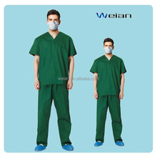 Chinese Supplier Disposable Sms Medical O-Collar V-Collar Scrub Suits