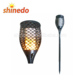 New design solar flickering torch light dancing flame lamp