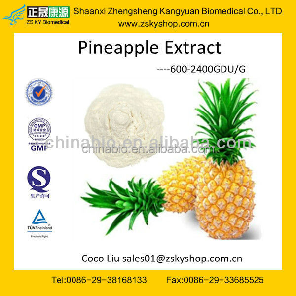 GMP manufacturer supply organic natural Pineapple Stem Extract Bromelain
