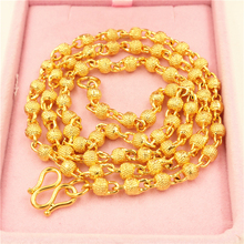 The most popular men in the Middle East simply design 24K gold-plated gold chain necklace