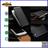 For iPhone 4/4S Luxury Genuine Real Leather Case,Flip leather case for iPhone --Laudtec