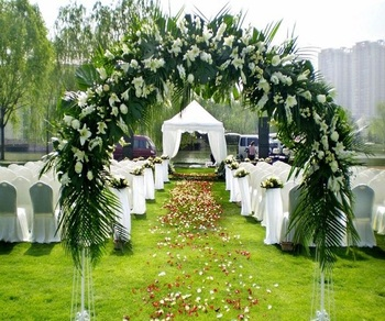Artificial lawn for wedding decoration