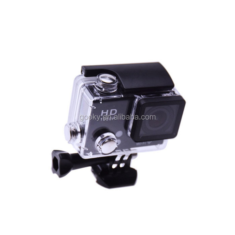 Factory price waterproof action camera full hd 1080p WIFI video camera free