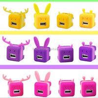 New multifunction silicone case for mobile phone charger plug protector cable winder
