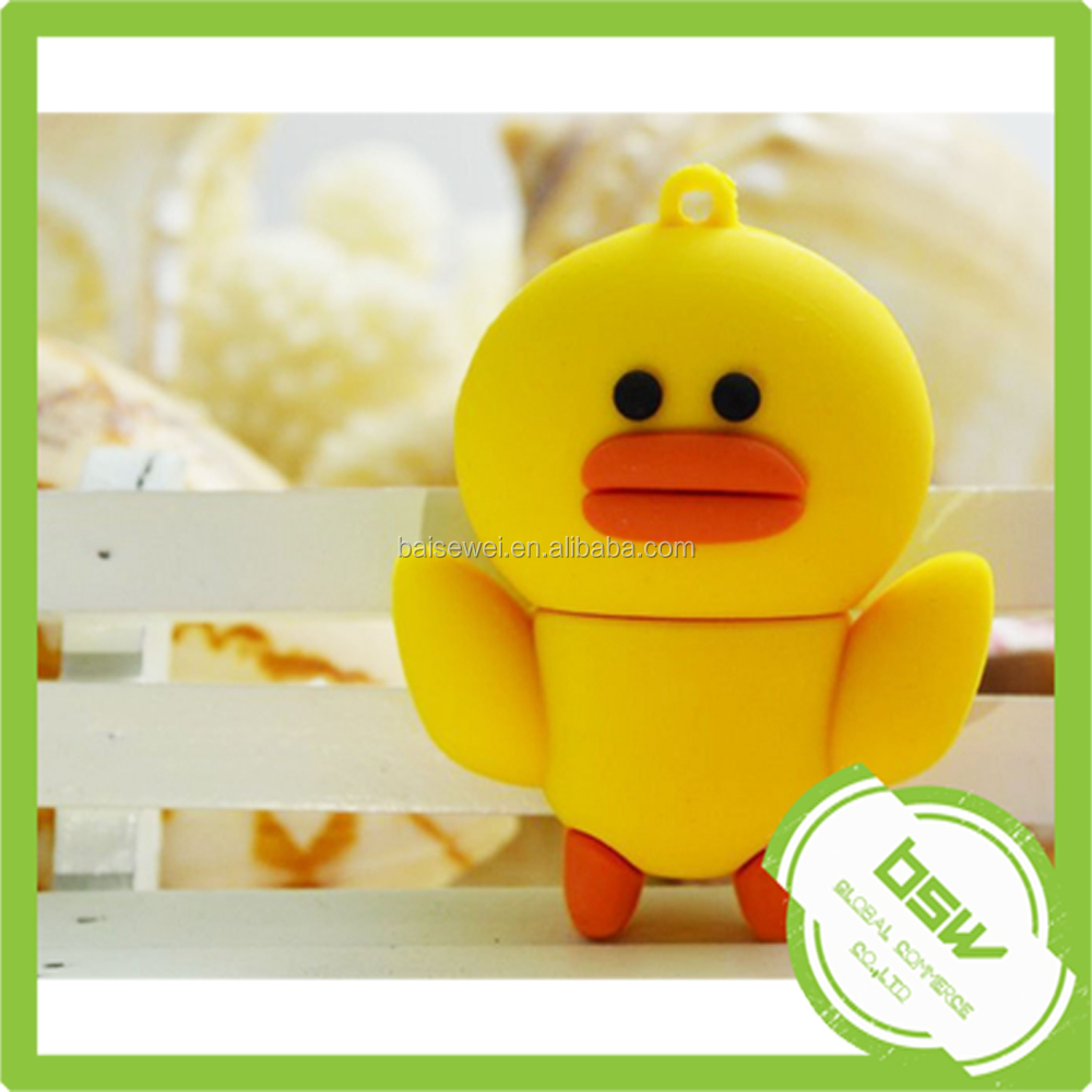 Cartoon Yellow Rubber Duck USB Flash Disk
