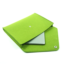 Make To Order OEM China Supplier felt laptop sleeve, wool evelope design felt document bag