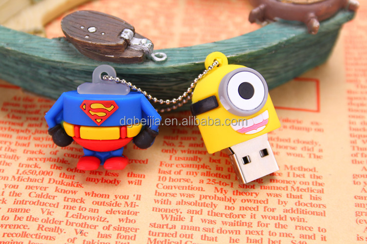 Cartoon characters yellow minion usb drive 2.0 despicable me minion usb flash drive