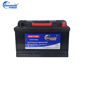 High Quality Wholesale Price DIN75MF 12V75AH Sealed MF Car Battery