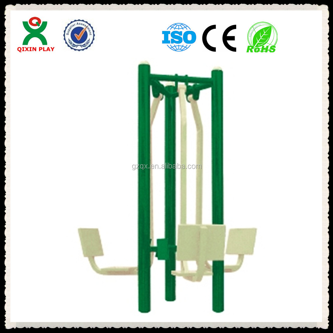 Popular design galvanized pipe outdoor fitness, hydraulic leg press, outdoor fitness machine