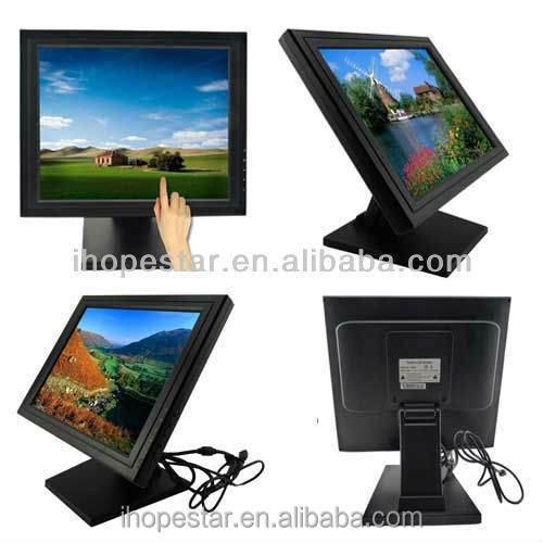 15'' inch double sided lcd vertical advertising monitor