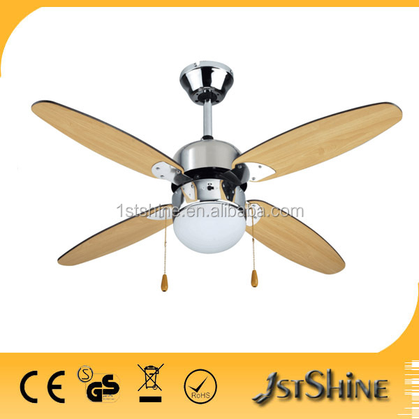 good quality 42 decorative ceiling fan lamp with wooden blades