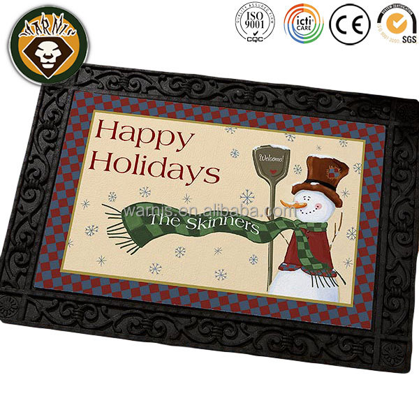 z0058 Merry Little Christmas Personalized Doormat