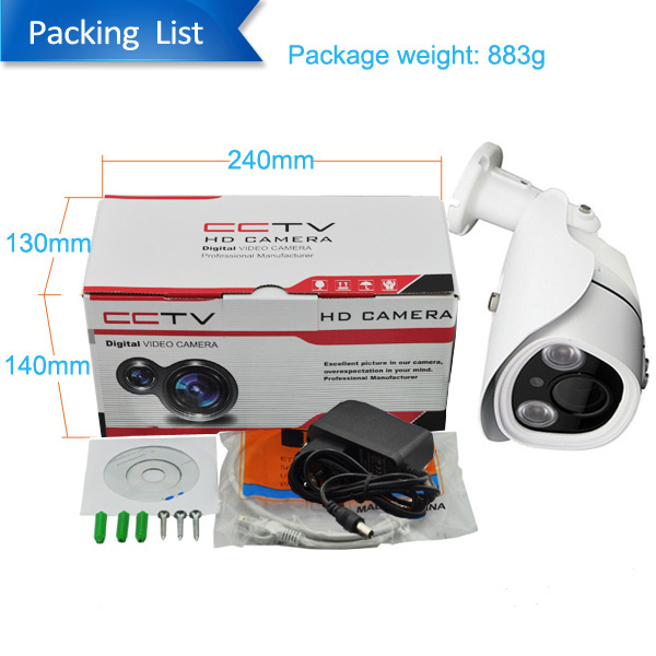 High Quality H.265 IP66 Outdoor 4K 8.0Megapixel Security Camera IP