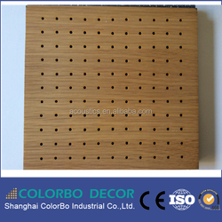 Wooden Timber MDF Panel Ceiling Acoustic Building Material