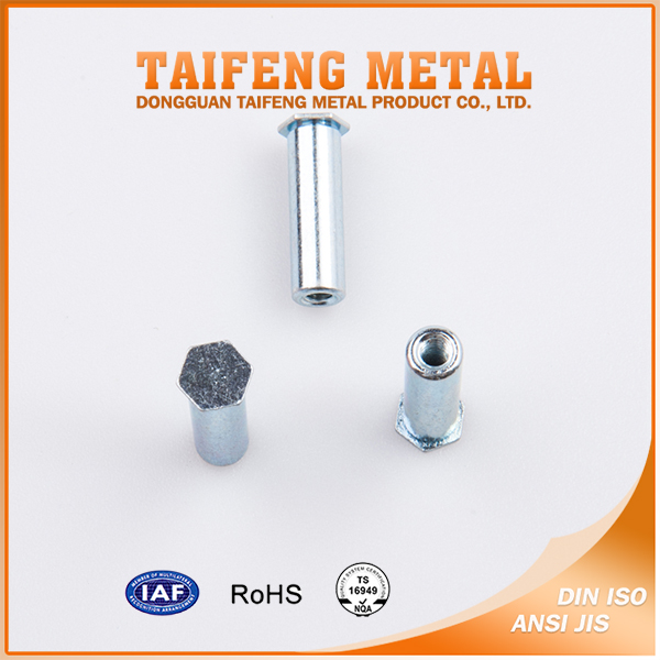 Carbon Steel M6 Flat Head Hex Rivet Nut