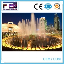 Large Scale Laser Show With floor fountain music fountain