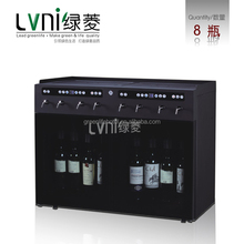 CE certificate 8 Bottle Refrigerated portable measuring plastic bottle with pump dispenser