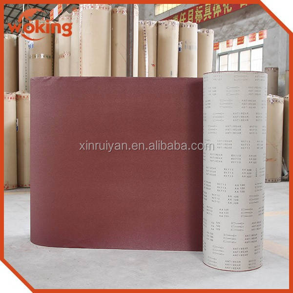 Jumbo roll abrasive cloth for making sanding belts / flap disc