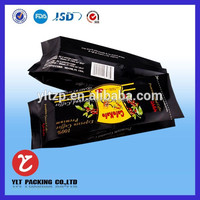 matt side coffee bag, foil side gusset coffee bag,aluminum foil coffee bag with valve