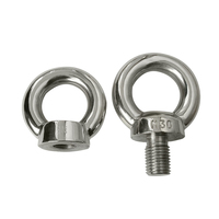 Stainless steel heavy duty eye bolt and nut