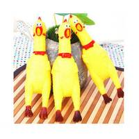 Squeaky Natural Rubber Toys for Pets PVC Chicken Toy