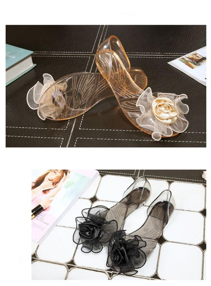 Wholesale 2015 fashion peep toe flat shoe