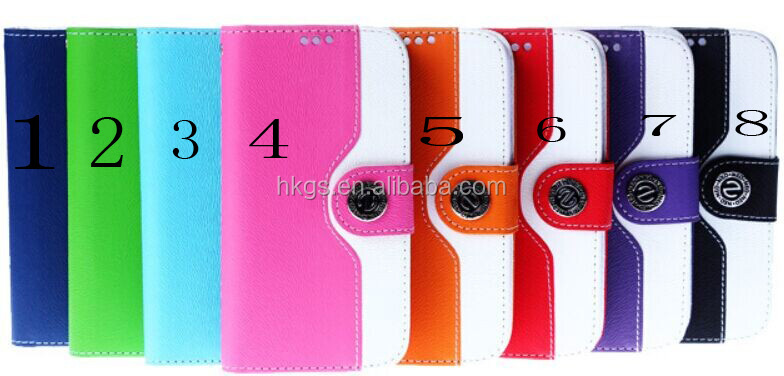 For Sharp Sense 4 Lichi Pu Leather Flip Wallet Phone Cases Cover Sense 4 Plus