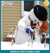 Pretty Christmas party decoration inflatable singing snowman with led