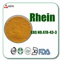 Herb Medicine Rhubarb Extract Powder Rhein 98% CAS No.: 478-43-3