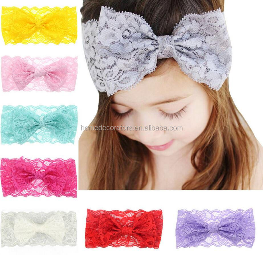 Solid Color Lace Headband for kids and baby