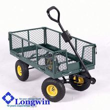 flatbed wheelbarrow garden tipper cart