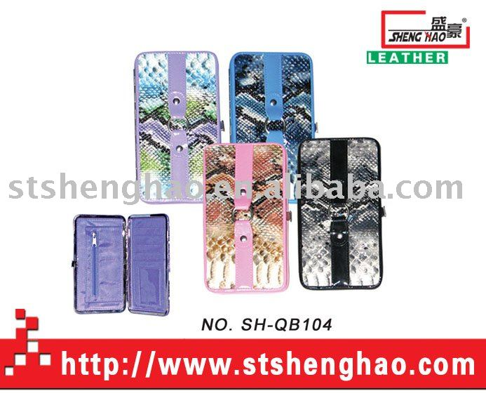 Snake-pattern pvc material ladies purse