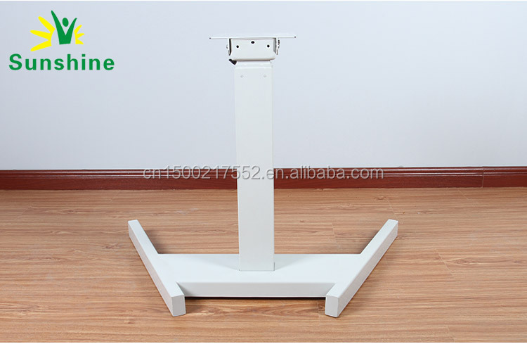 Electric single leg adjustable table