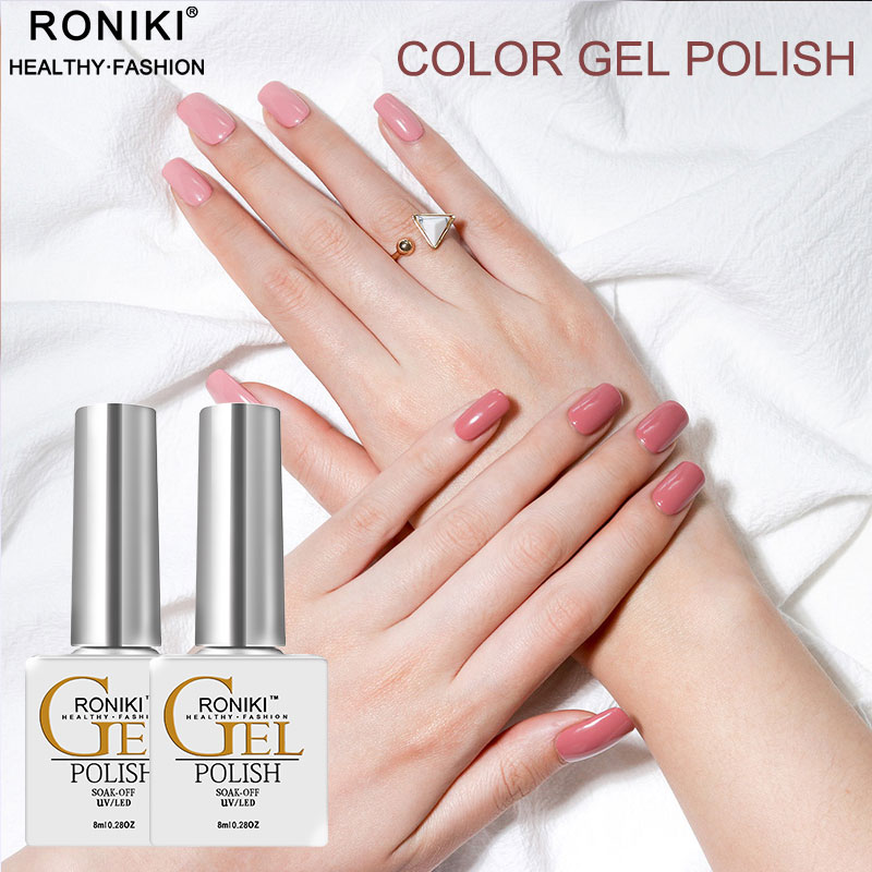 RONIKI Nail Beauty Supplies Popular 8ml White Bottle Gel Polish