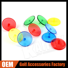 Top Quality Colorful Plastic Golf Ball Markers, 30 pcs /bag