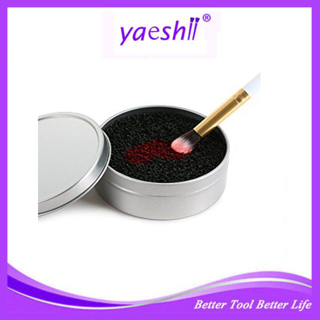 YAESHII <strong>Color</strong> Off Makeup Brush Cleaner Sponge <strong>Remover</strong> <strong>Color</strong> From Brush Eyeshadow Sponge Tool Cleaner Quick Wash Cleaner Brush