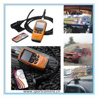 "Ambarella chipset GPS full hd 1080p 2"" screen motorcycle camera racing car camera with Remote control"