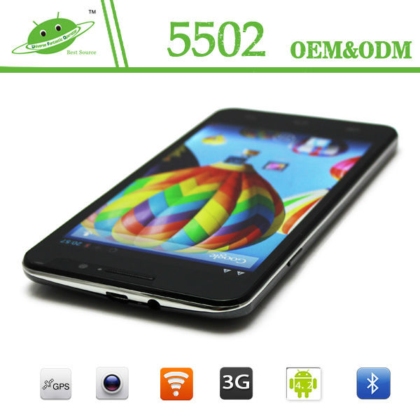 IPS 5.5inch RAM 512M ROM 4G Camera 2.0M 8.0M Wifi Bluetooth GPS MTK6582 2500mah battery quad core 1.7ghz smartphone