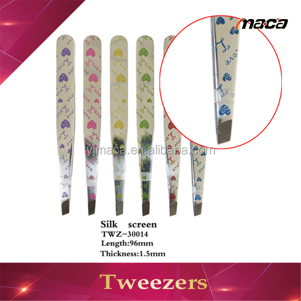 Top quality eyebrow tweezers/eyelash extension tweezers/eyelash tweezers for girl