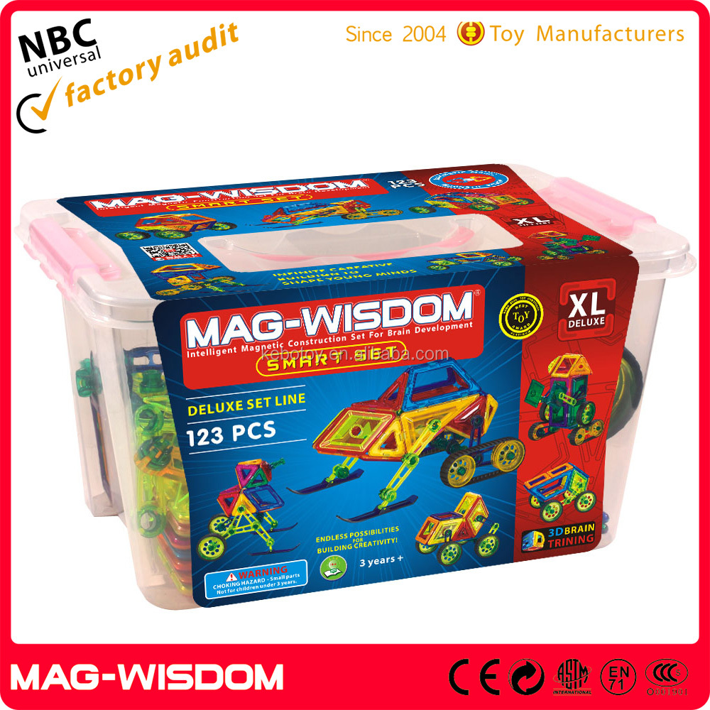 pure plastic Mag wisdom Magnetic blocks for kids