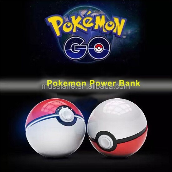 2016 China Newest Product Real factory Cheapest Price pokeball charger 12000mah Pokemon Go Power Bank with LED Light