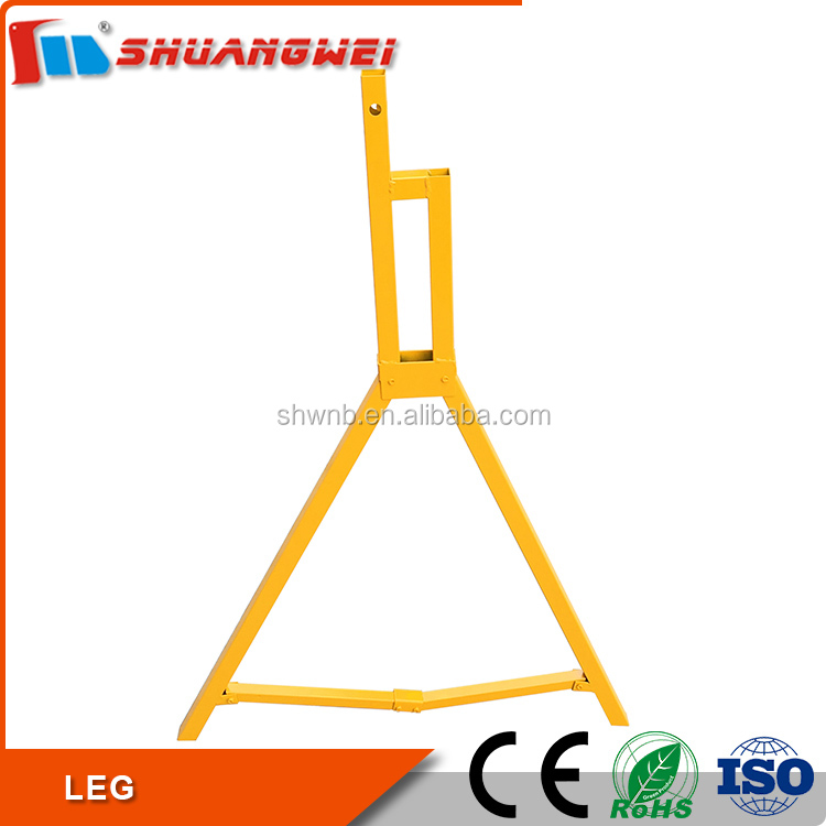 Yellow Steel tube Foldable Barrier Board Stand