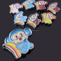 DIY lovely monkey enamel 8mm slide charms animal shaped beads inexpensive charms