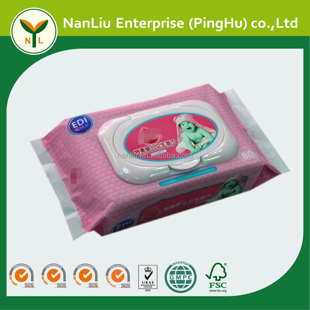 Disposable nonwoven cleaning cottony sanitary napkin baby wet wipes (Professional baby wet wipes OEM/ODM)