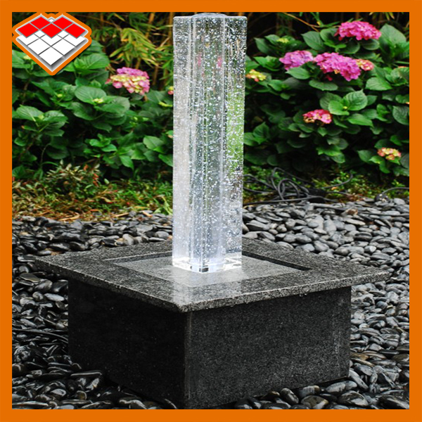 crystal square column large outdoor water fountains
