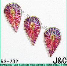 16*28mm colorful drop shape sew on resin stones