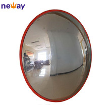 Orange color 450mm indoor round safety traffic convex mirror