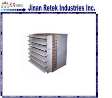 Refrigeration fin type air cooled condenser