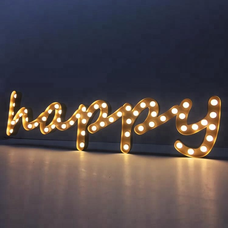 Luxury Wedding Stage Backdrop Led Happy Letters Marquee Party Supply <strong>Decoration</strong>