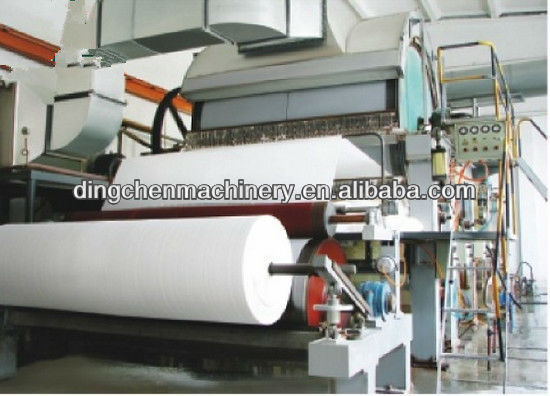 lavatory paper machine toilet paper machine with competitive price from raw material waste paper, wood pulp, wheat straw, cotton